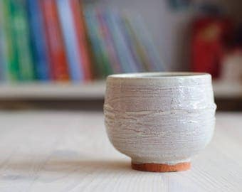 "Matcha Chawan, Tea Bowl, handmade ceramic tea cup, handmade pottery, Pottery Tea Bowl.   4.5 "" diameter and 3.5 "" tall."