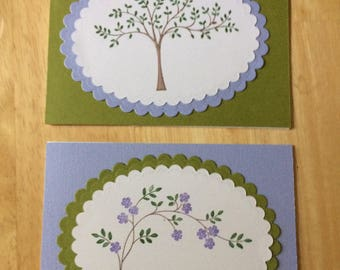 Handmade Note Cards or You choose Occassion