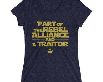 Princess Leia, Rebel Alliance, Traitor, Star Wars,  Gift for Her, Women's, teens, Graphic T-shirt