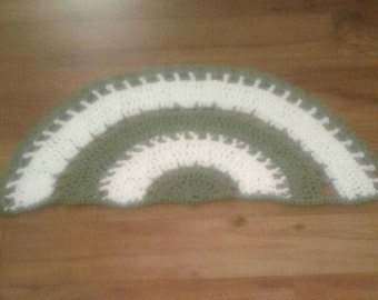 Adorable Little Crocheted Semi-Circle Rug