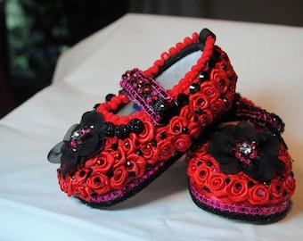 Rosalinda Girl's Baby Shoes 6-12 months