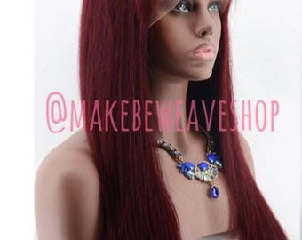 CUSTOM Standard Quality 100% Remy Indian Hair Full Lace Wig