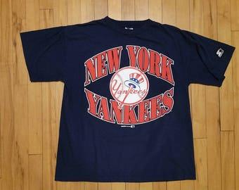 Vintage 1996 New York Yankees Starter T-Shirt. Size Large. Official MLB Apparel.