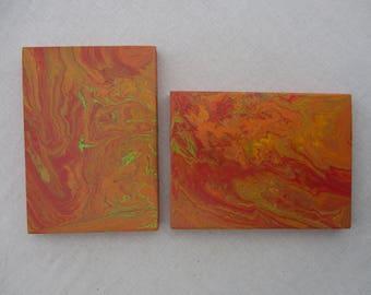 Painting set of 2 paintings - pair