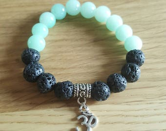 Lava bead ohm bracelet