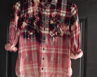 Upcycled Flannel || Women's Small