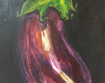 Eggplant Painting, Canvas, Art