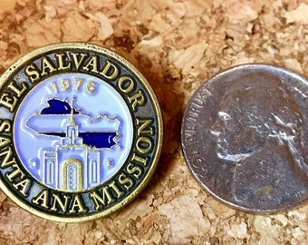 El Salvador Santa Ana Mission lapel pin (LDS)