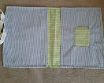 Pocket for diapers and wipes clutch