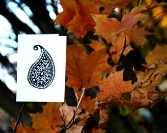 Stamped Paisley Card