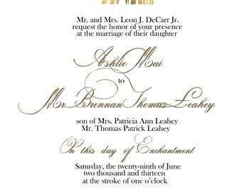 fairytale wedding invitation template - Fairy Tale Wedding Invitations
