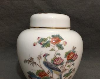 Wedgwood Kutani Crane Ginger Jar & Lid