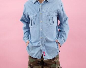 Marlboro, Vintage Marlboro, Chambray Shirt, Cigarettes, Smoking, Chambray, Denim Shirt, Button Up Shirts, Hipster Shirt, Mens Button Up