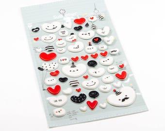 Cute heart stickers.