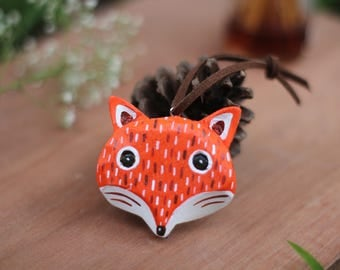 Keyring Fox,Wooden Fox Keychain,Animal,Wild Animal Wooden Keyring,Keyring,Keychains,Wooden Painted,Gift for her,gift for him,accessories