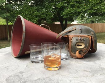 Vintage Football Megaphone, Gift for Men, Man Cave Display, Sports Collectible