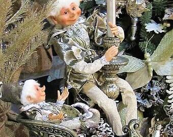 """Floridus 16"""" """"CALLON"""" Elf Hanging Ornament (Brown/Silver) FLO-XN306614"""