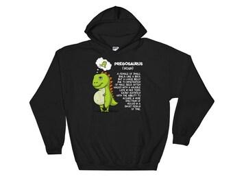 Pregosaurus - Pregnancy Hoodie - Dinosaur Hoodie - Pregnancy Sweatshirt - Dinosaur Sweatshirt - Mama Sweatshirt - New Mother Hoodie