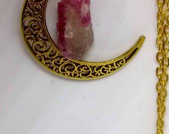 Mystical Moon and sailor moon quartz necklace