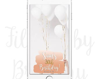 30th Birthday Snapchat Filter Geofilter