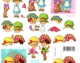 1 x sheet 3D boyfriend girlfriend on hats (9725)