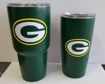 Green Bay Packers Wisconsin YETI 30oz yeti Rambler tumbler personalized