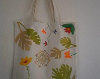 Floral canvas bag