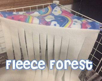 Fleece Forest for Guinea Pigs and Hedgehogs- Choose your own colors!
