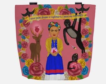 Pink Frida Kahlo (Everyday Use) Tote Bag