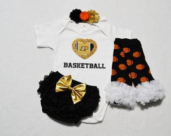 purdue boilermakers college basketball baby girl outfit -  baby girl boilermakers outfit - baby girl purdue boilermakers basketball outfit