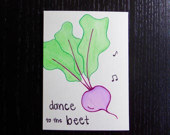 Dance To The Beet Card w/ Envelope | Pun Card | Punny Card