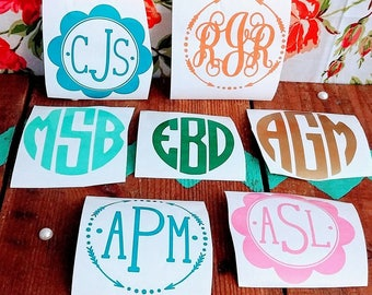 Decal name/ car decal/ vinyl monogram name/ decal for computer/ Tumbler decal/ personalized decal/ monogram sticker/ truck sticker