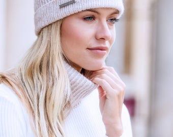 Ladies cashmere hat ( without Pom Pom )