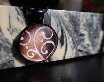 Spiral Rose Gold Pattern Pendant