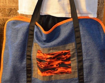 Flame and Denim BBQ Tool Holder