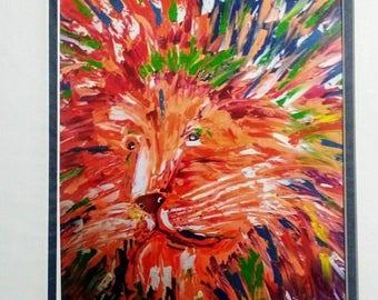 Colorful lion print