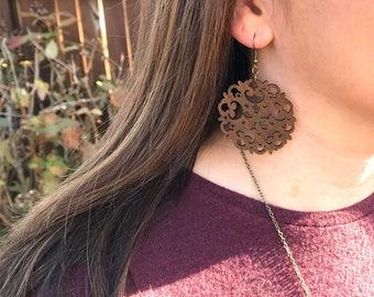 BirchWood Earrings, Natural, Boho, Minimalist Earrings
