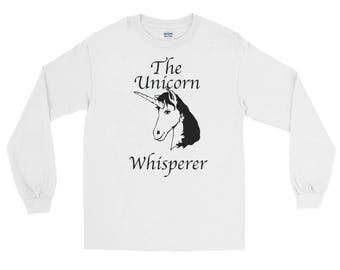 The Unicorn Whisperer distressed unisex Spartees Long Sleeve T-Shirt