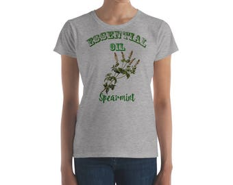 Essential Oil Spearmint Women's short sleeve t-shirt