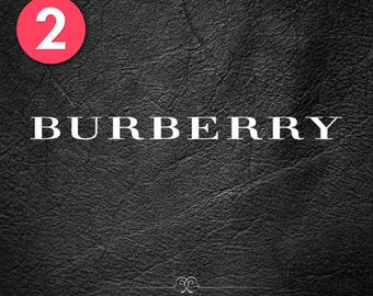 2x BURBERRY Sticker Vinyl Decal