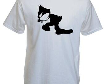 t-shirt men, Felix the Cat cartoon.