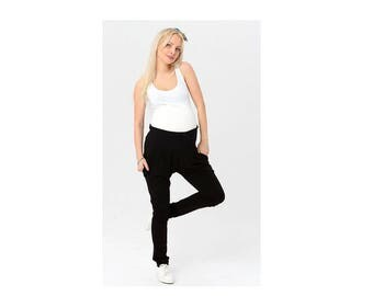 Pregnancy black pants / trousers/ pregnant / with pockets
