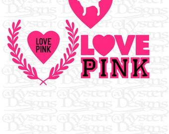 victoria secret pink SVG bundle