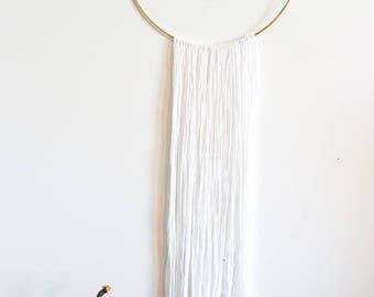 Moon Metal Hoop Wall Hanging