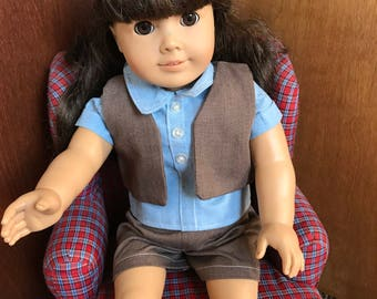 American Girl Doll Clothing, Licensed Vintage Girl Scout Brownie Uniform #2
