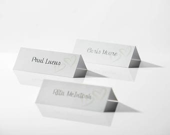 Personalised Place Names, Place Cards, Wedding Name Cards, Table names, place names for wedding, personalised table names