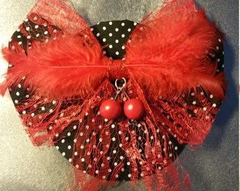 "Fascinator on comb ""Dorothy"""