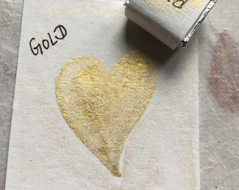 Lustrous Gold-Handmade Watercolor