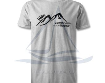 Land Rover Mountain Logo T Shirt, Classic, Novelty T-Shirt, Cars, Novelty Gift, Defender T-Shirt, Land Rover T-Shirt Adults