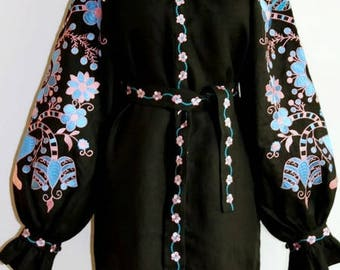 Ukrainian Dress Vyshyvanka Bohemian Clothes Boho Dresses Ukrainian Embroidery Abaya Dress Vishivanka Modern Cloth Traditional Clothing